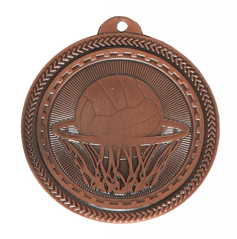 Copper Super Value Netball Medal (size: 50mm) - 63517