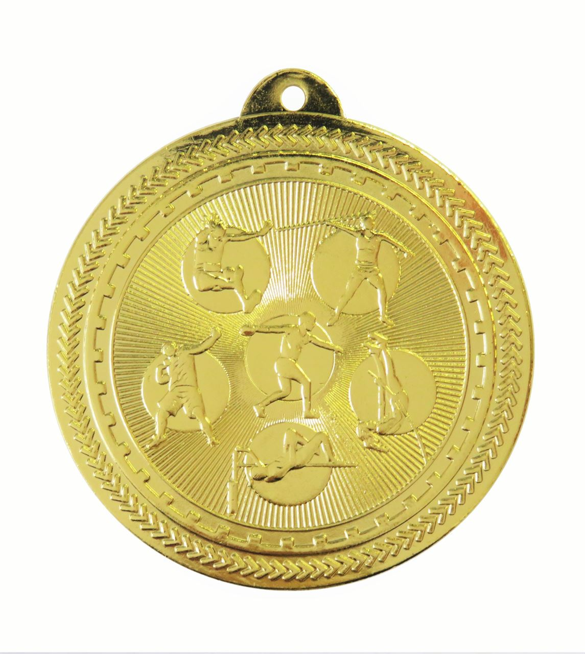 Gold Super Value Field Athletics Medal (size: 50mm) - 63564