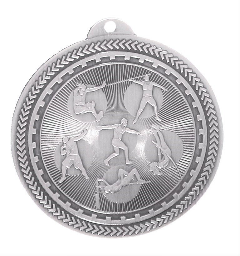 Silver Super Value Field Athletics Medal (size: 50mm) - 63564
