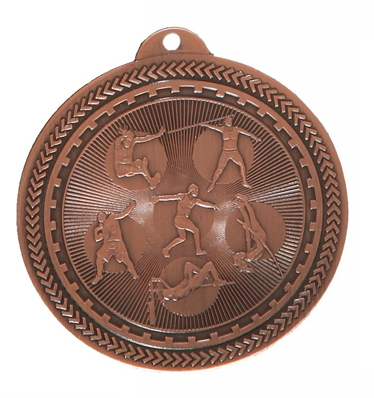 Copper Super Value Field Athletics Medal (size: 50mm) - 63564