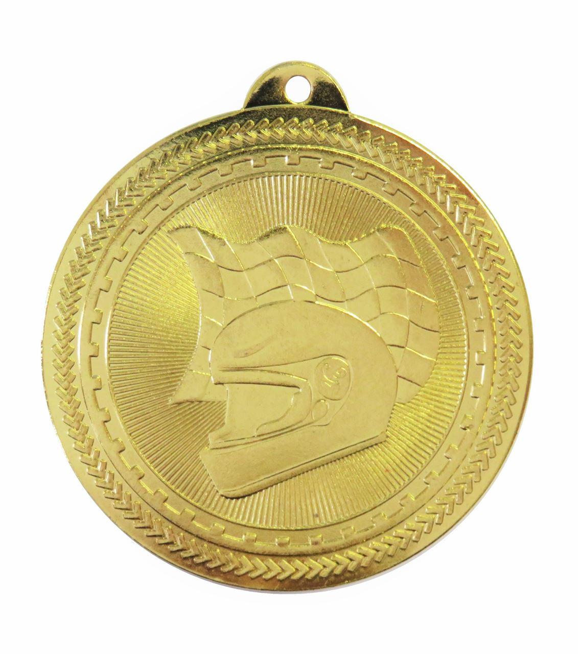 Gold Super Value Motor Racing Medal (size: 50mm) - 63509