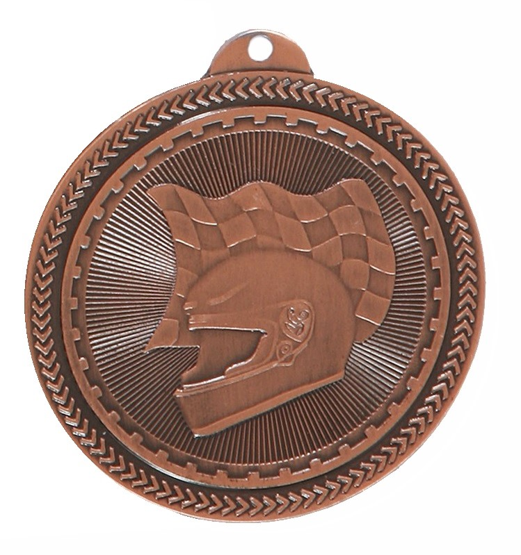 Copper Super Value Motor Racing Medal (size: 50mm) - 63509