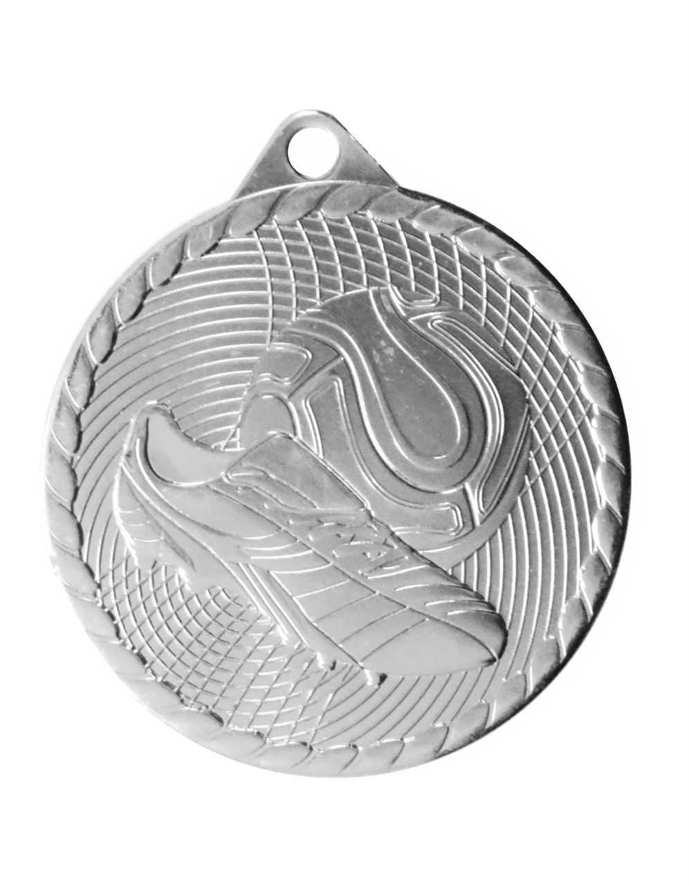 Silver Isoline Economy Football Medal (size: 50mm) - 63851