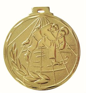 Gold Value Judo Ray Medal (size: 50mm) - 7903