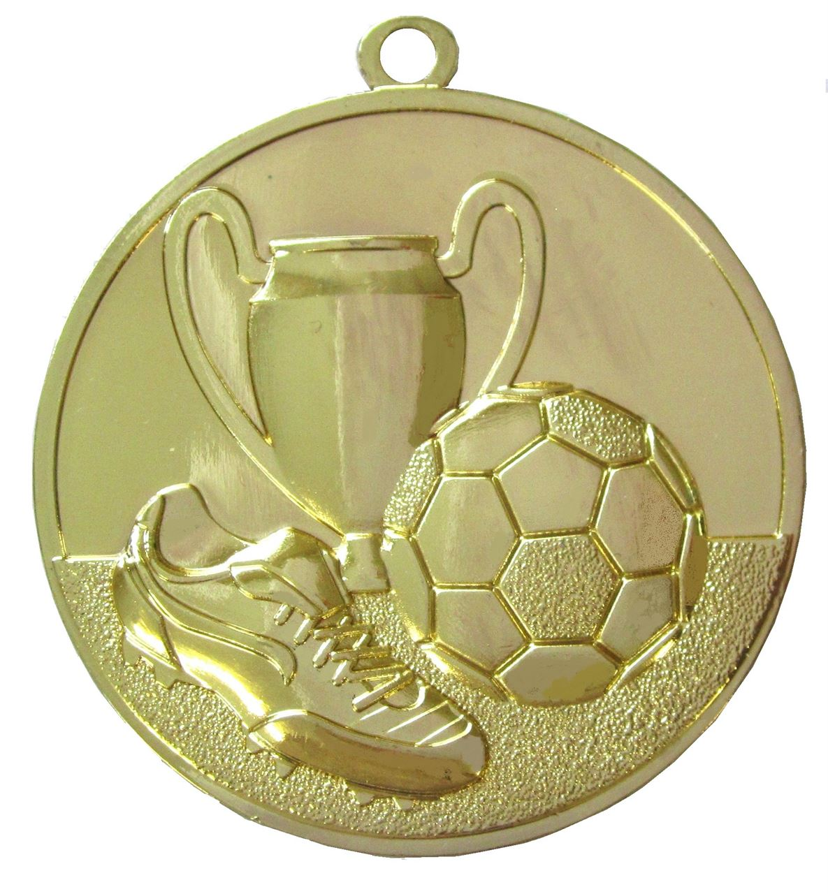 Gold Super Economy Football Medal (size: 50mm) - ME47