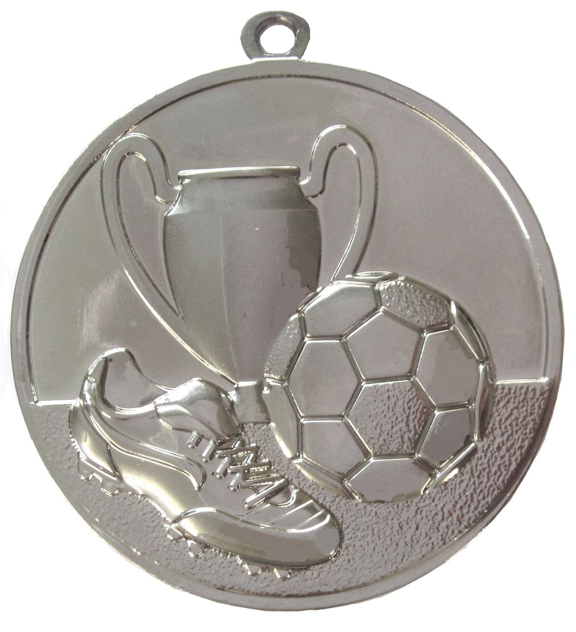 Silver Super Economy Football Medal (size: 50mm) - ME47