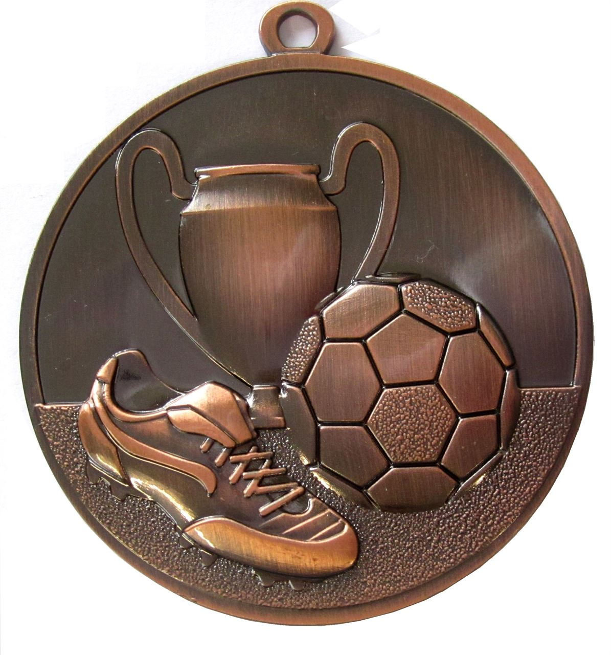 Copper Super Economy Football Medal (size: 50mm) - ME47