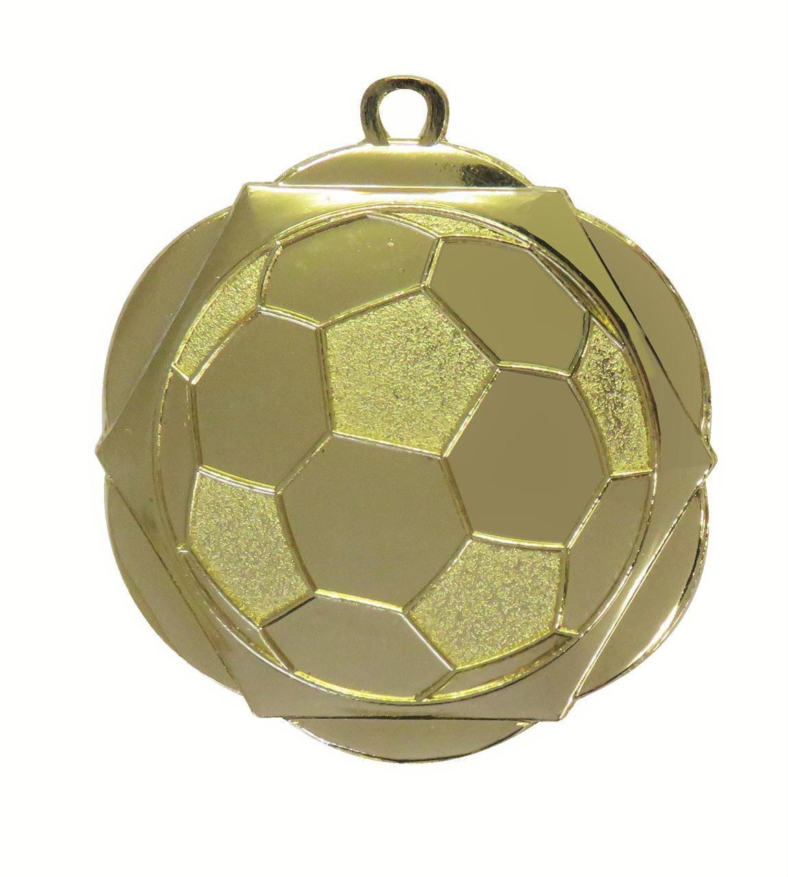 Gold English Rose Football Medal (size: 50mm) - D5