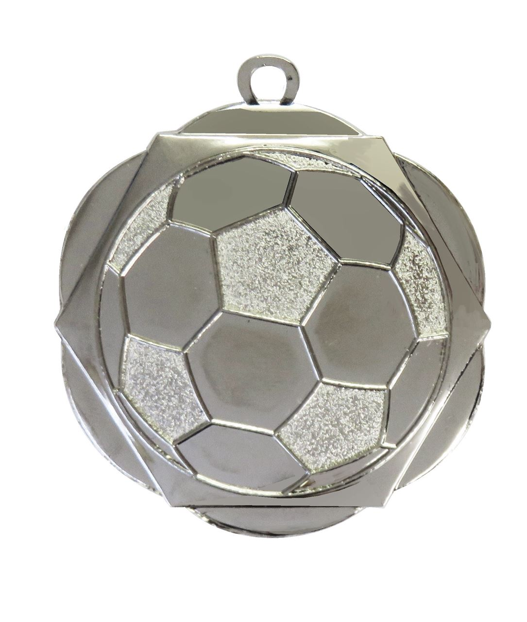 Silver English Rose Football Medal (size: 50mm) - D5