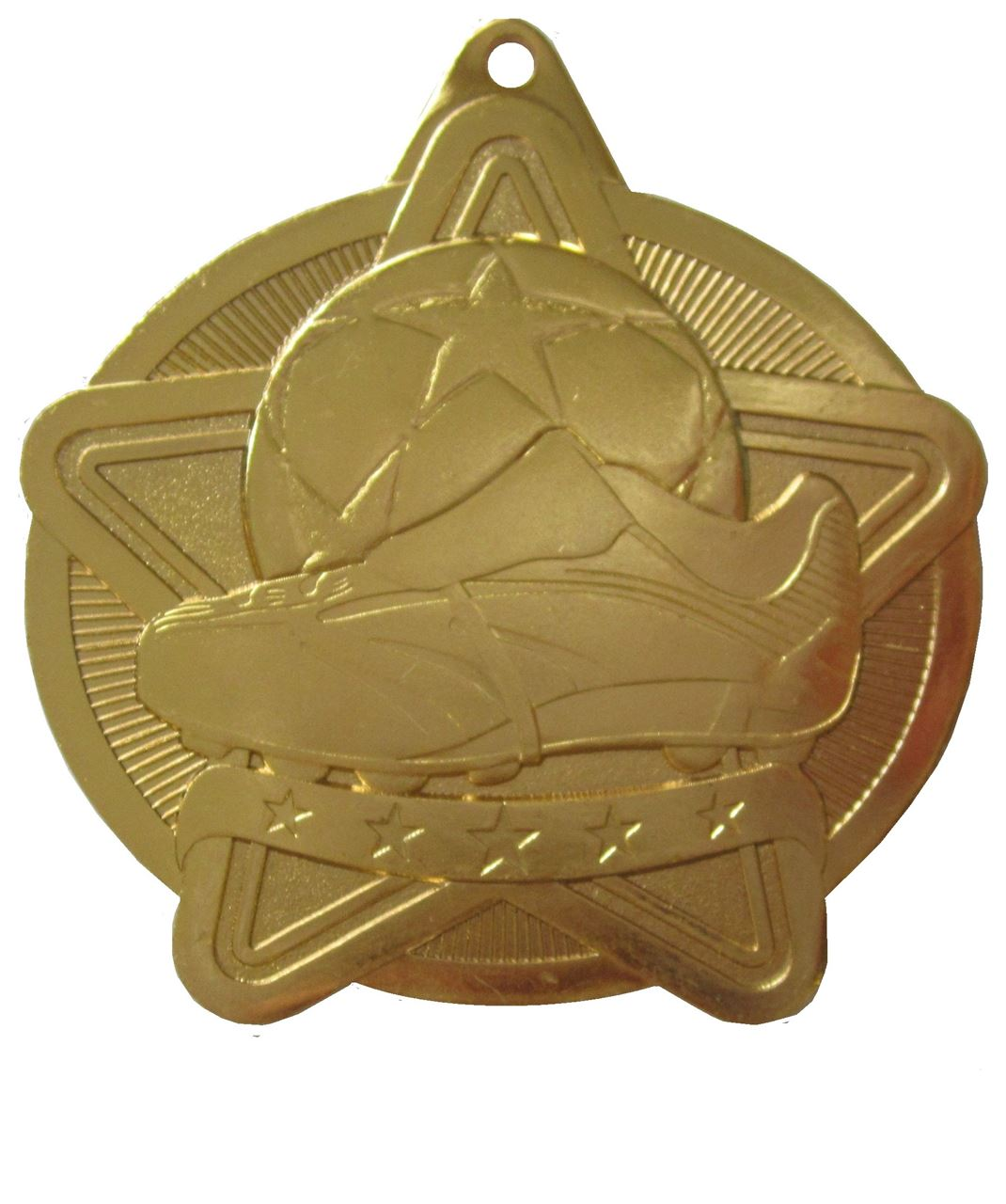 Gold Star Value Football Medal (size: 50mm) - 63571