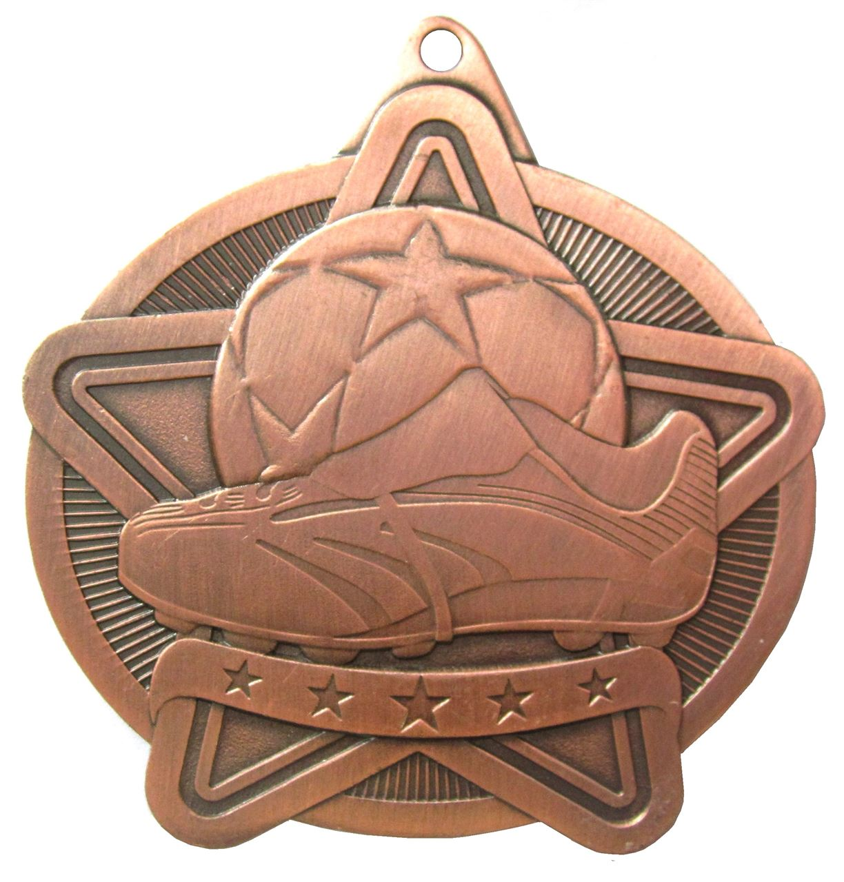 Copper Star Value Football Medal (size: 50mm) - 63571