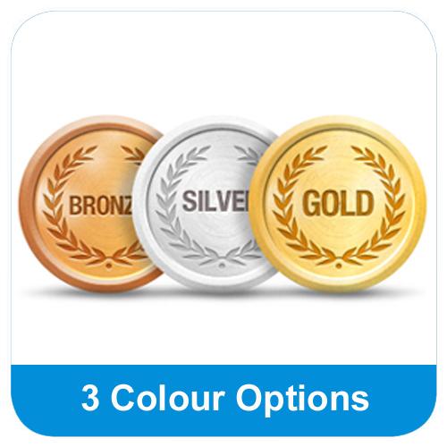 3 Colour Options - Gold/Silver/Bronze