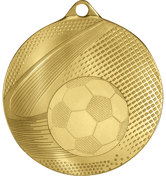 Gold Coin Edge Football Medal (size: 57mm) - 63859