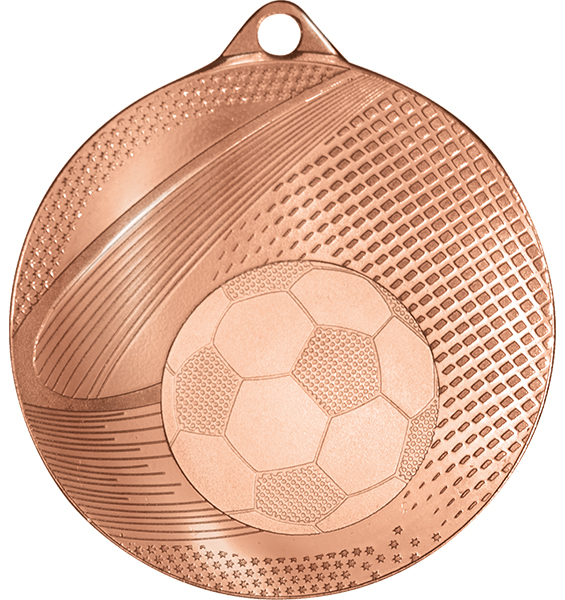 Copper Coin Edge Football Medal (size: 57mm) - 63859