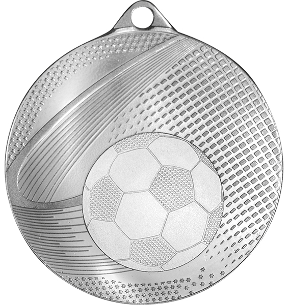 Silver Coin Edge Football Medal (size: 57mm) - 63859