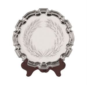 Chippendale Tray with Embossed Laurel Wreath - S1/10
