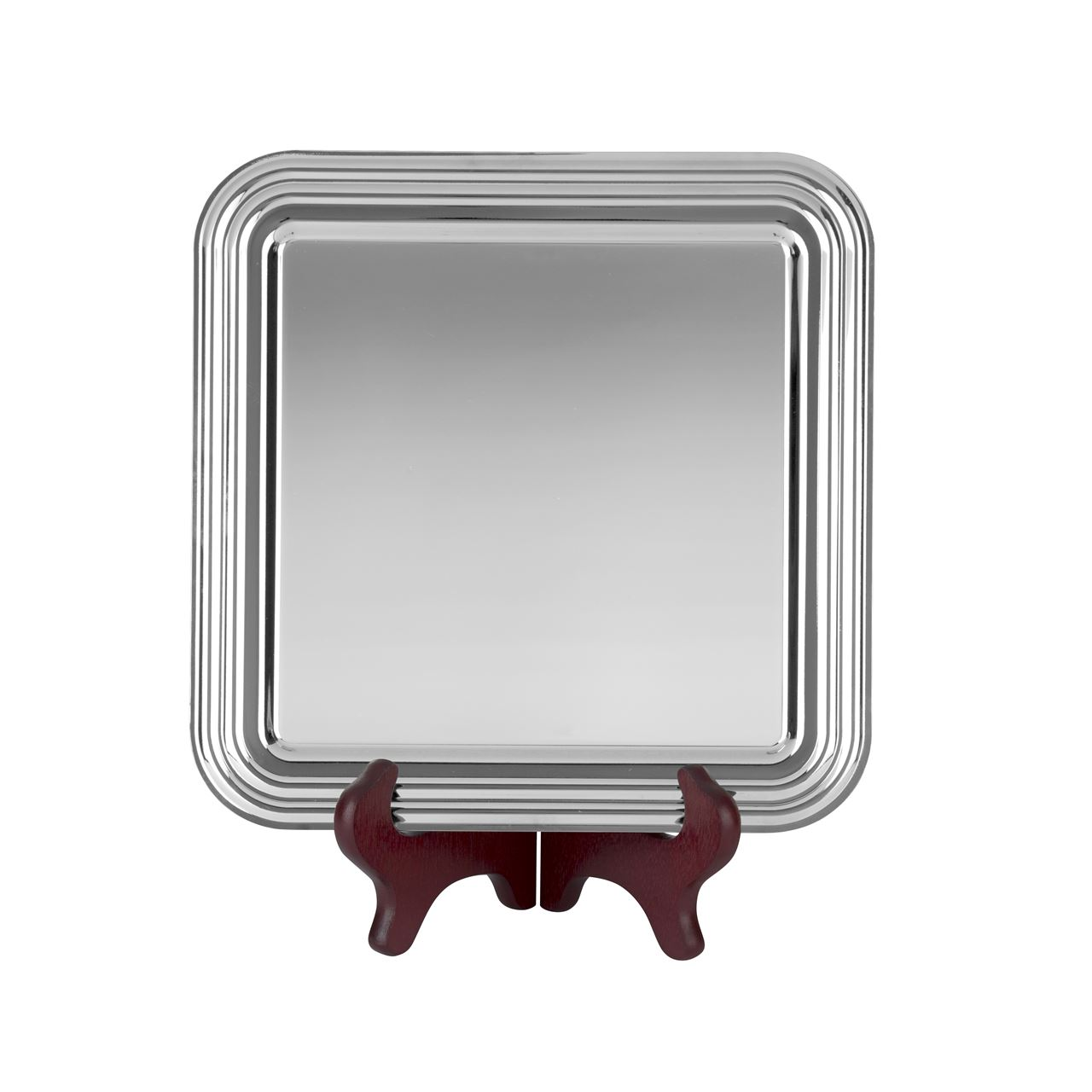 Heavy Gauge Nickel Plated Linear Square Tray - S9