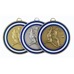 Coloured Enamelled Football Medal