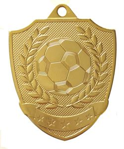 Gold Shield Football Medal (size: 50mm) - 63025