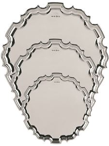 Hallmarked Silver Chippendale Tray - S1997