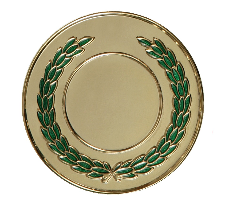 Gold Enamelled Laurel Medal (size: 50mm) - LAU
