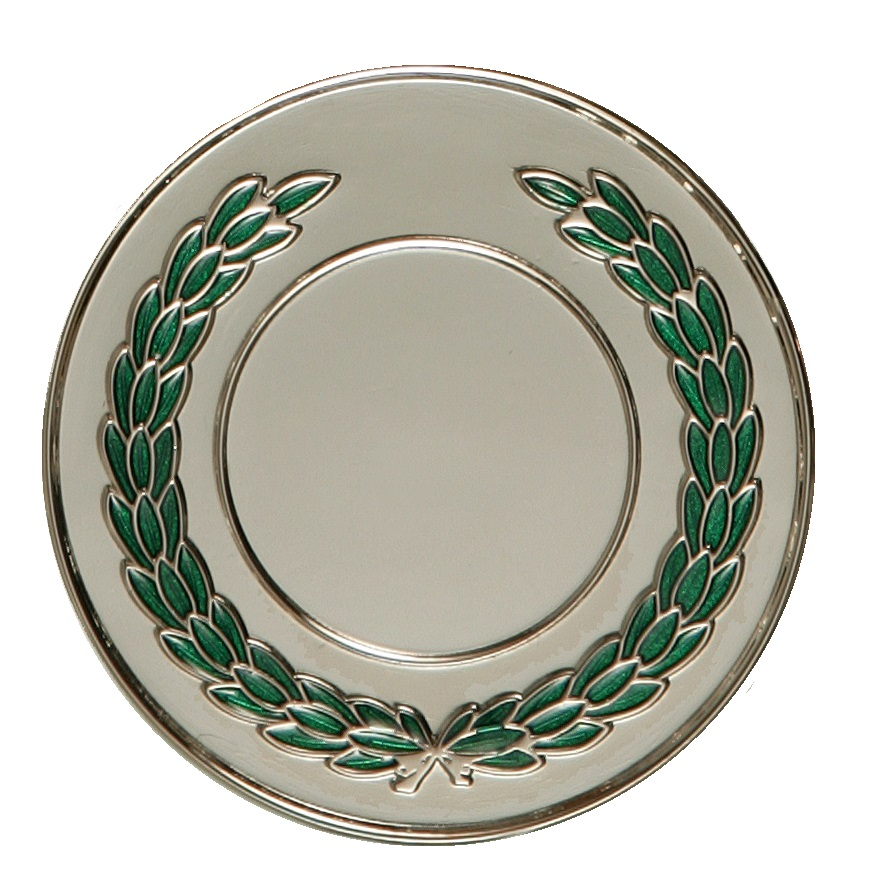 Silver Enamelled Laurel Medal (size: 50mm) - LAU
