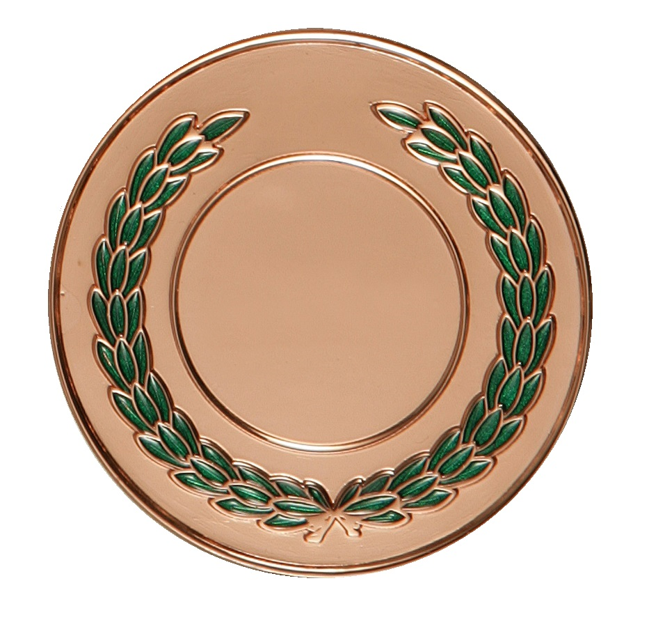 Copper Enamelled Laurel Medal (size: 50mm) - LAU