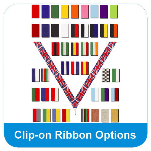 Clip on ribbon options
