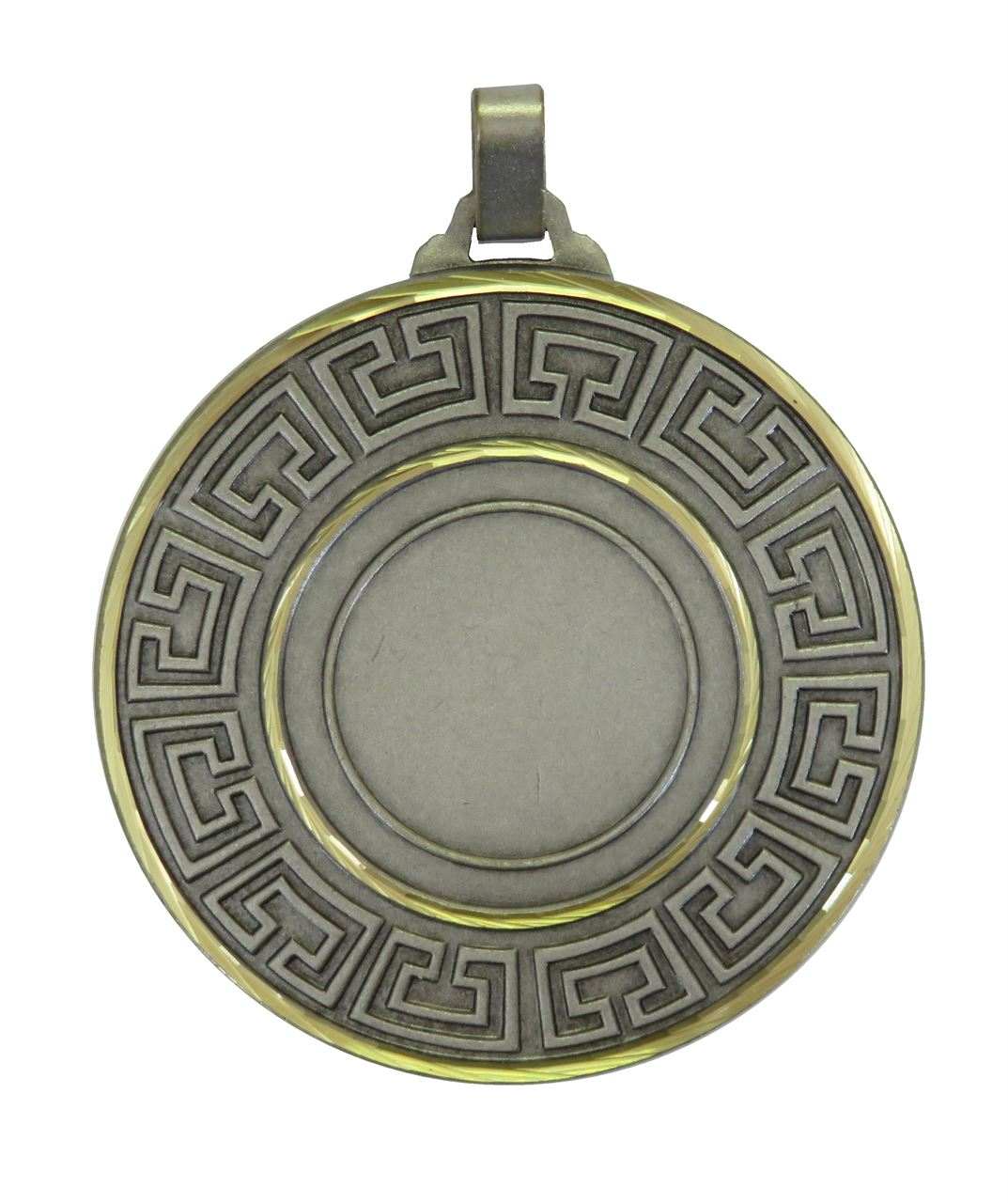 Silver Faceted Athena Medal (sizes: 60mm) - 5555F