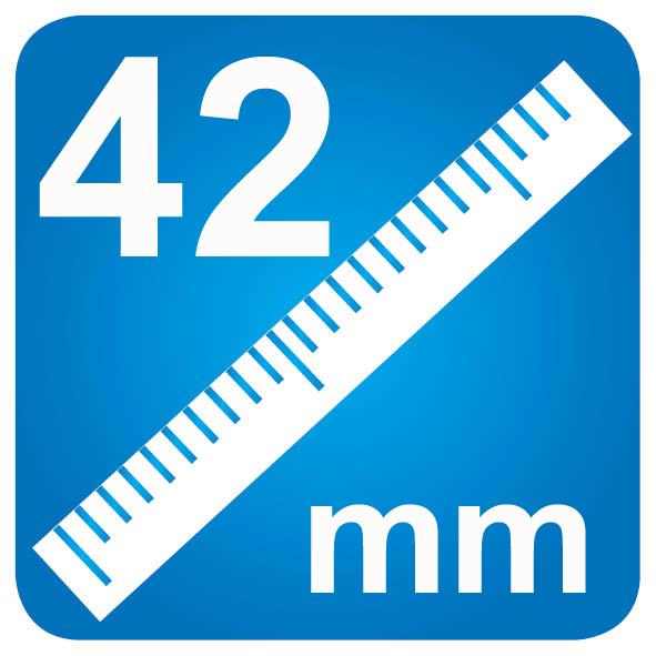 42mm diameter