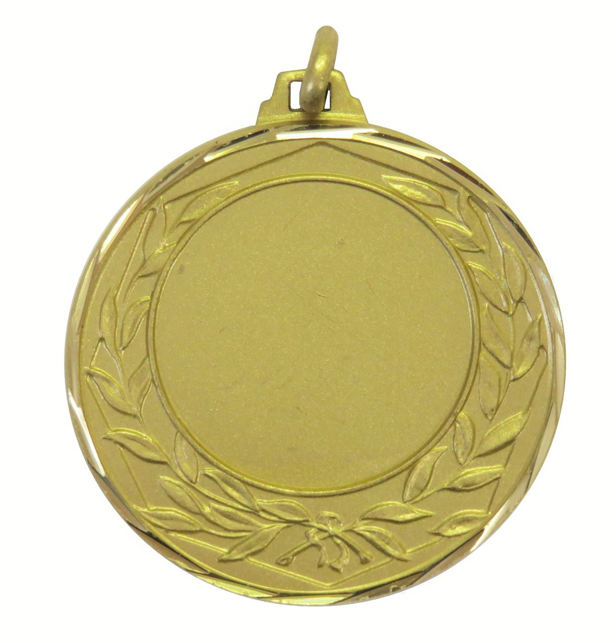 Gold Faceted Wreath Medal (size:42mm) - 5405F