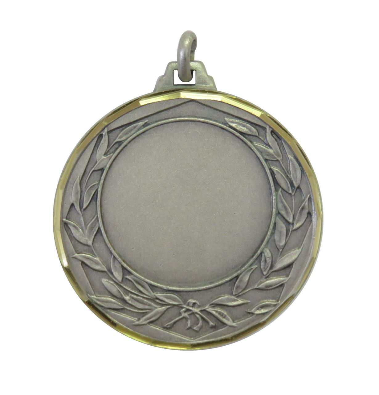 Silver Faceted Wreath Medal (size:42mm) - 5405F