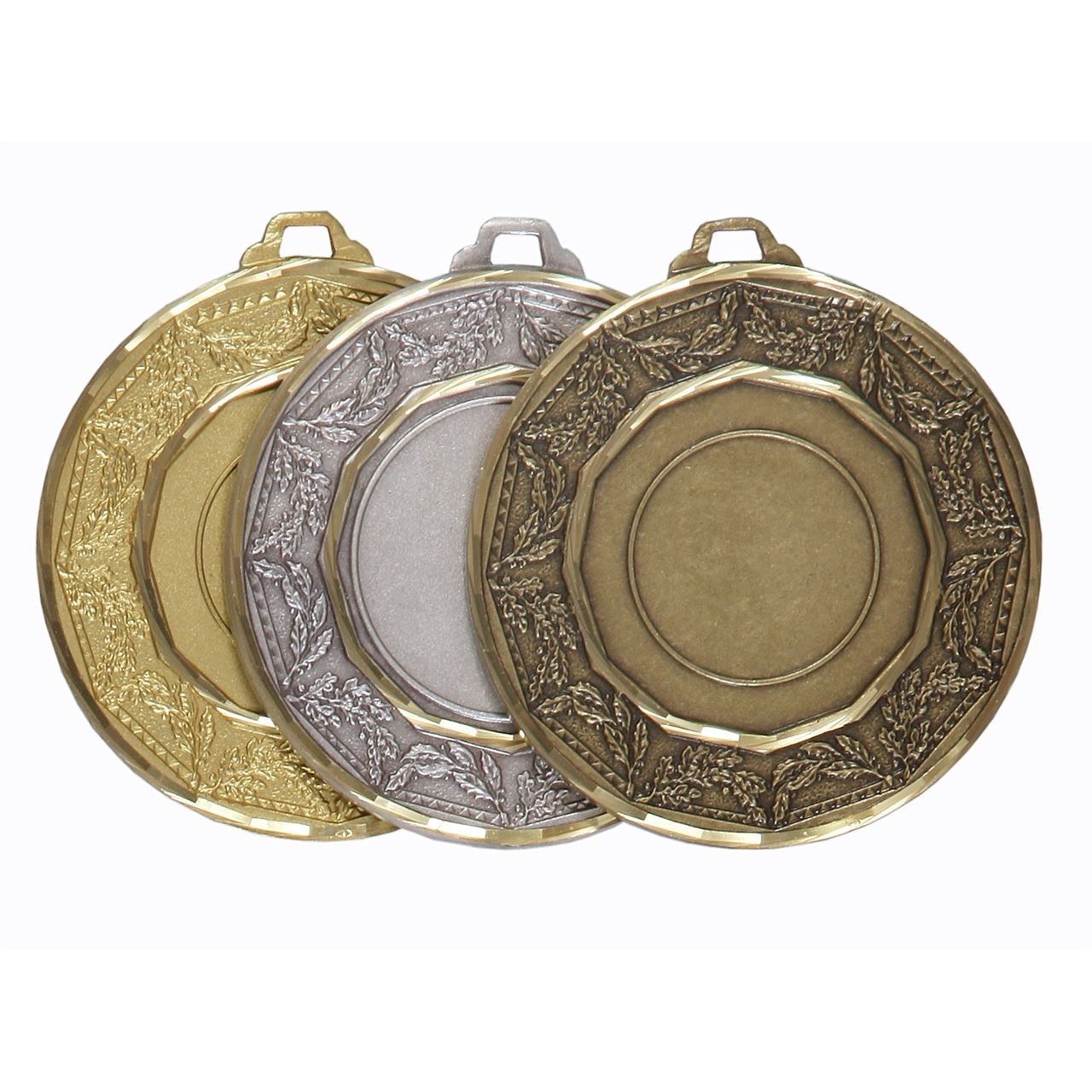 Faceted Classic Laurel Medal - 5515F