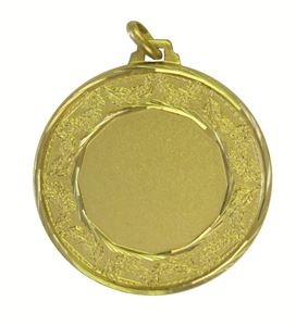 Gold Faceted Classic Laurel Medal (size: 42mm) - 5515F