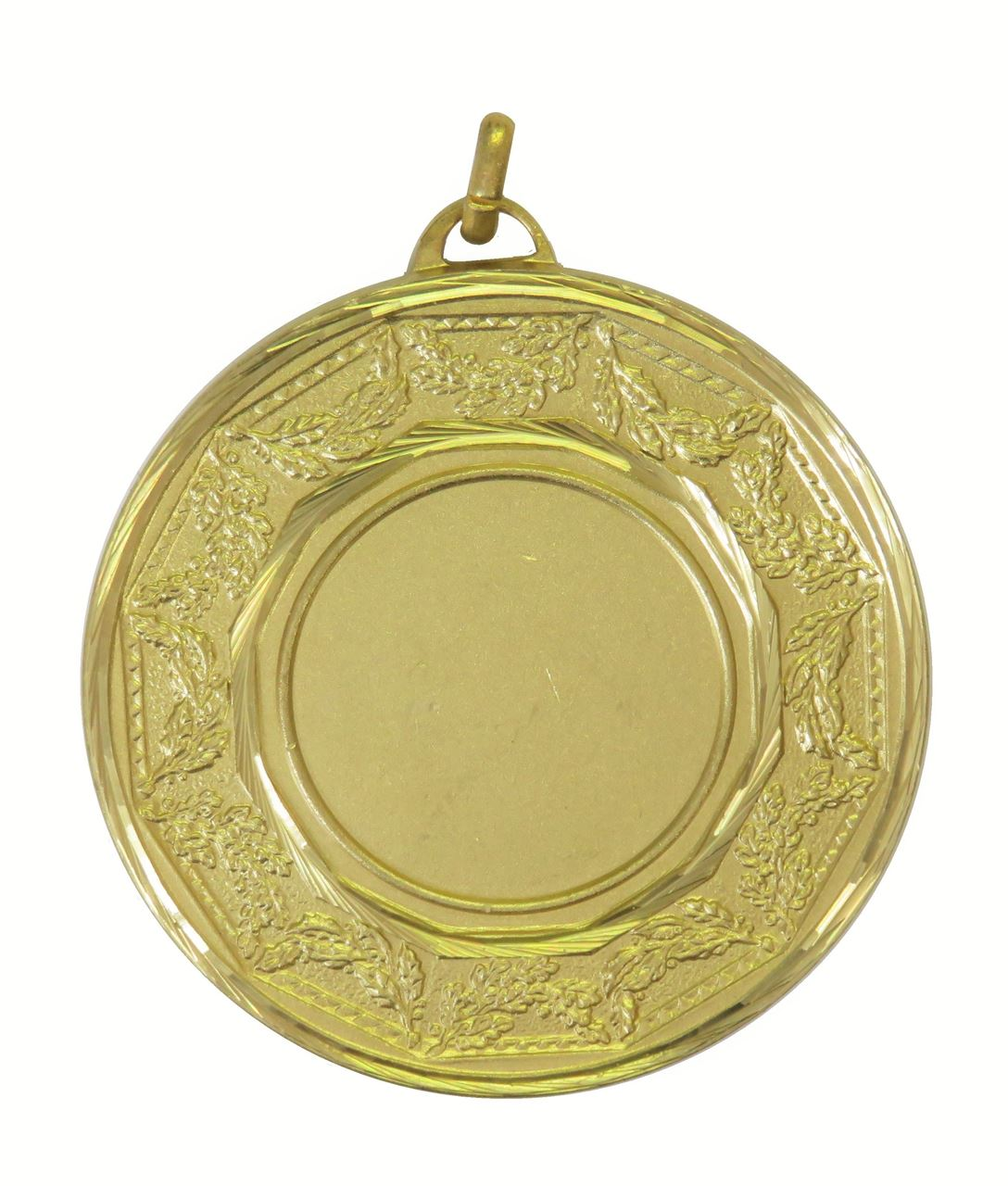 Gold Faceted Classic Laurel Medal (size: 50mm) - 5515F