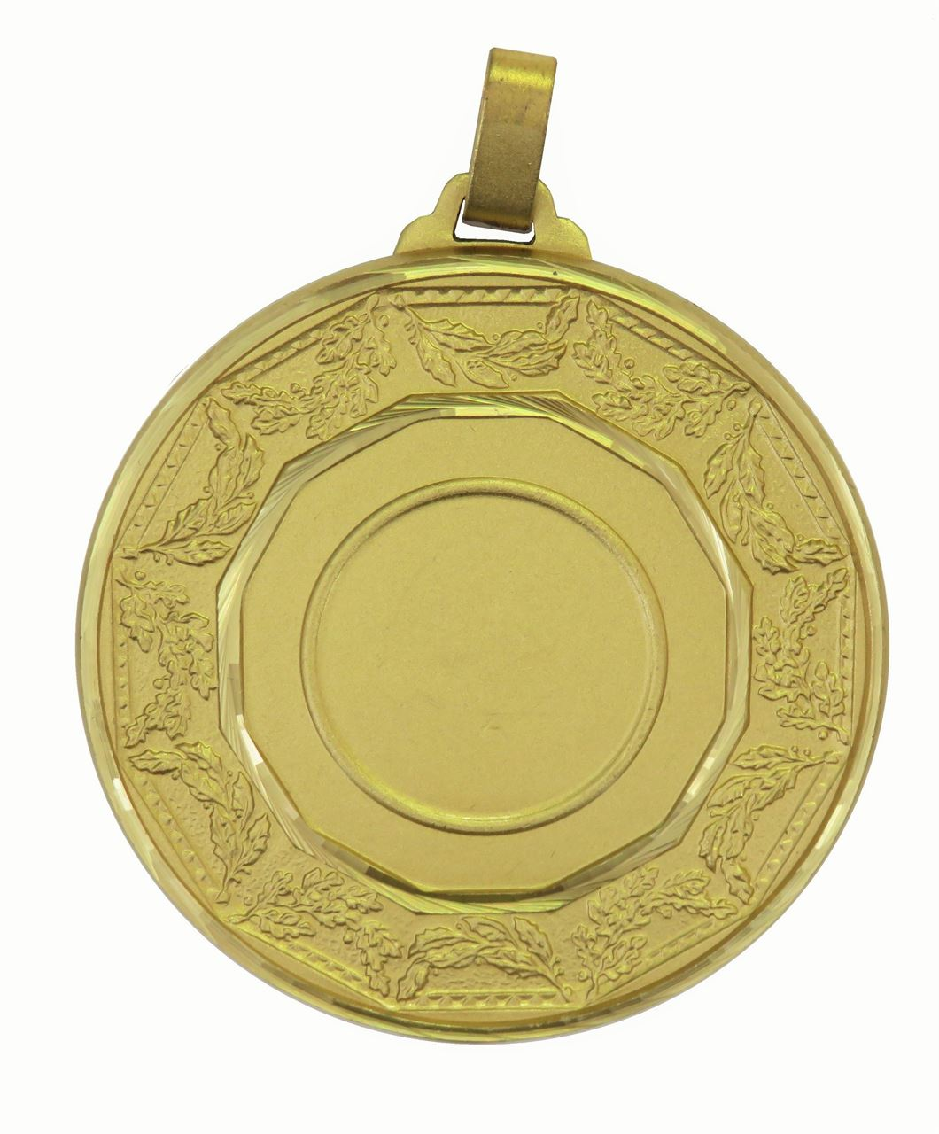 Gold Faceted Classic Laurel Medal (size: 60mm) - 5515F