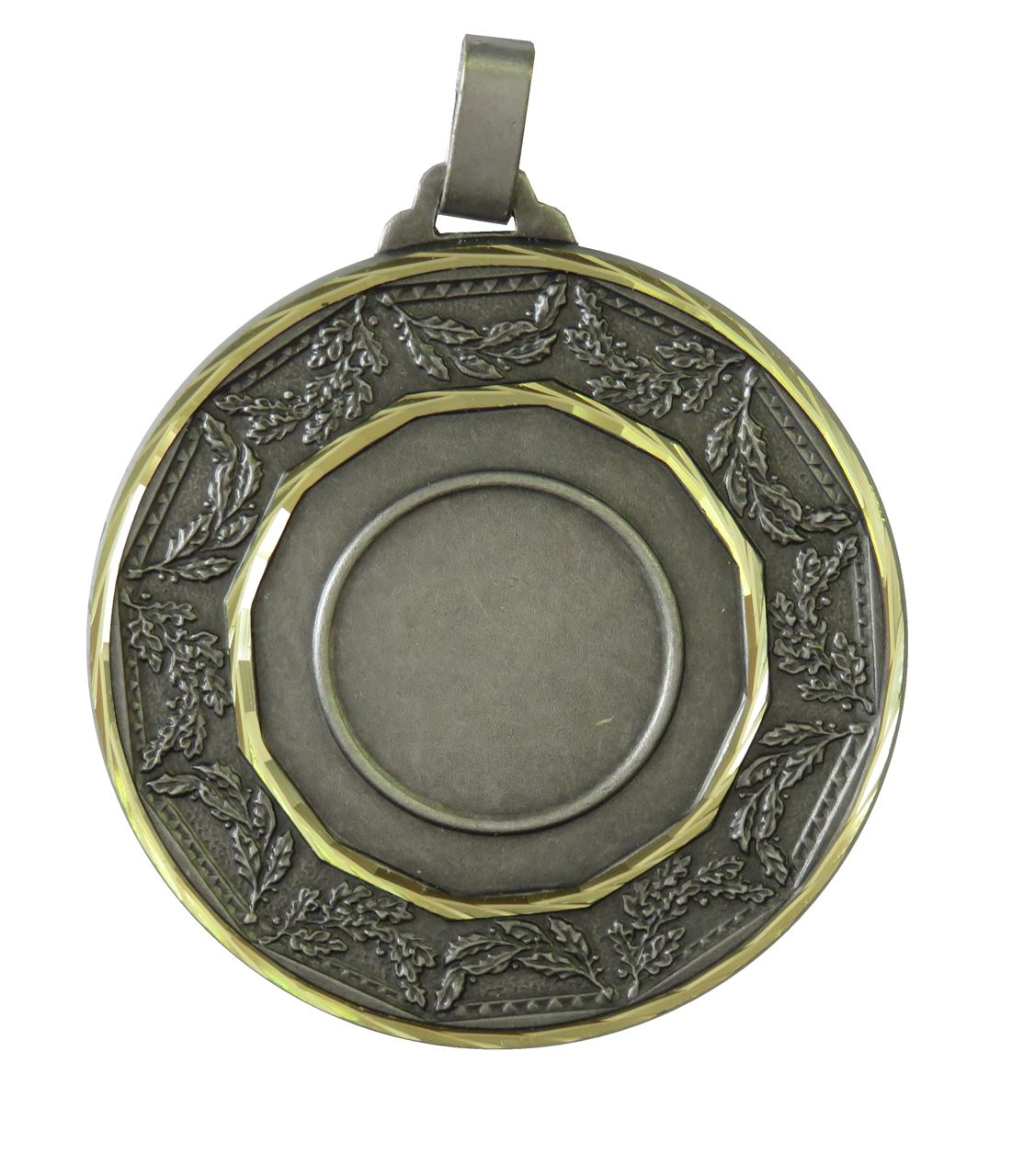 Silver Faceted Classic Laurel Medal (size: 60mm) - 5515F