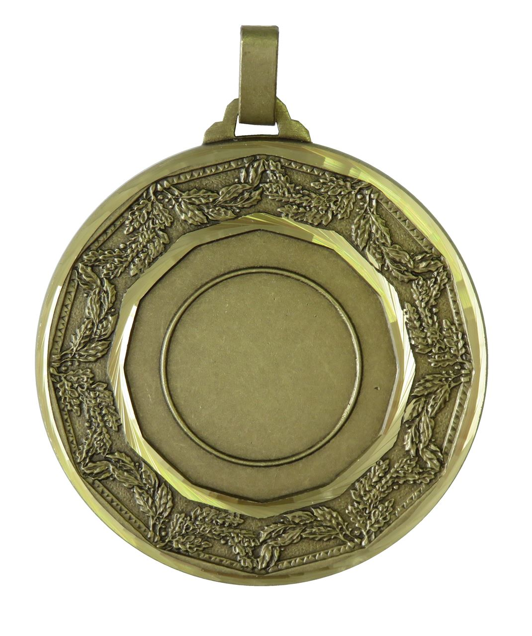Bronze Faceted Classic Laurel Medal (size: 60mm) - 5515F
