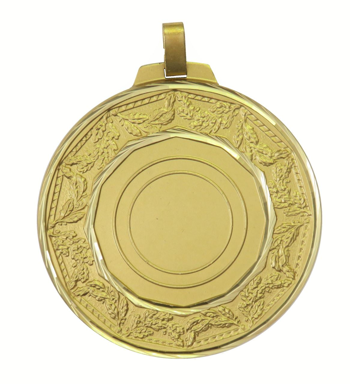 Gold Faceted Classic Laurel Medal (size: 70mm) - 5515F