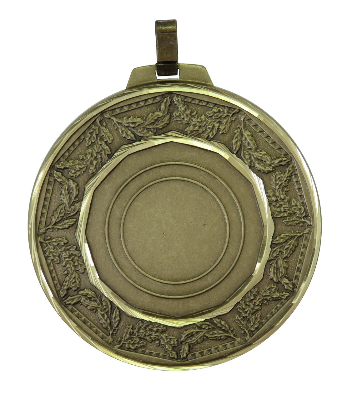 Bronze Faceted Classic Laurel Medal (size: 70mm) - 5515F