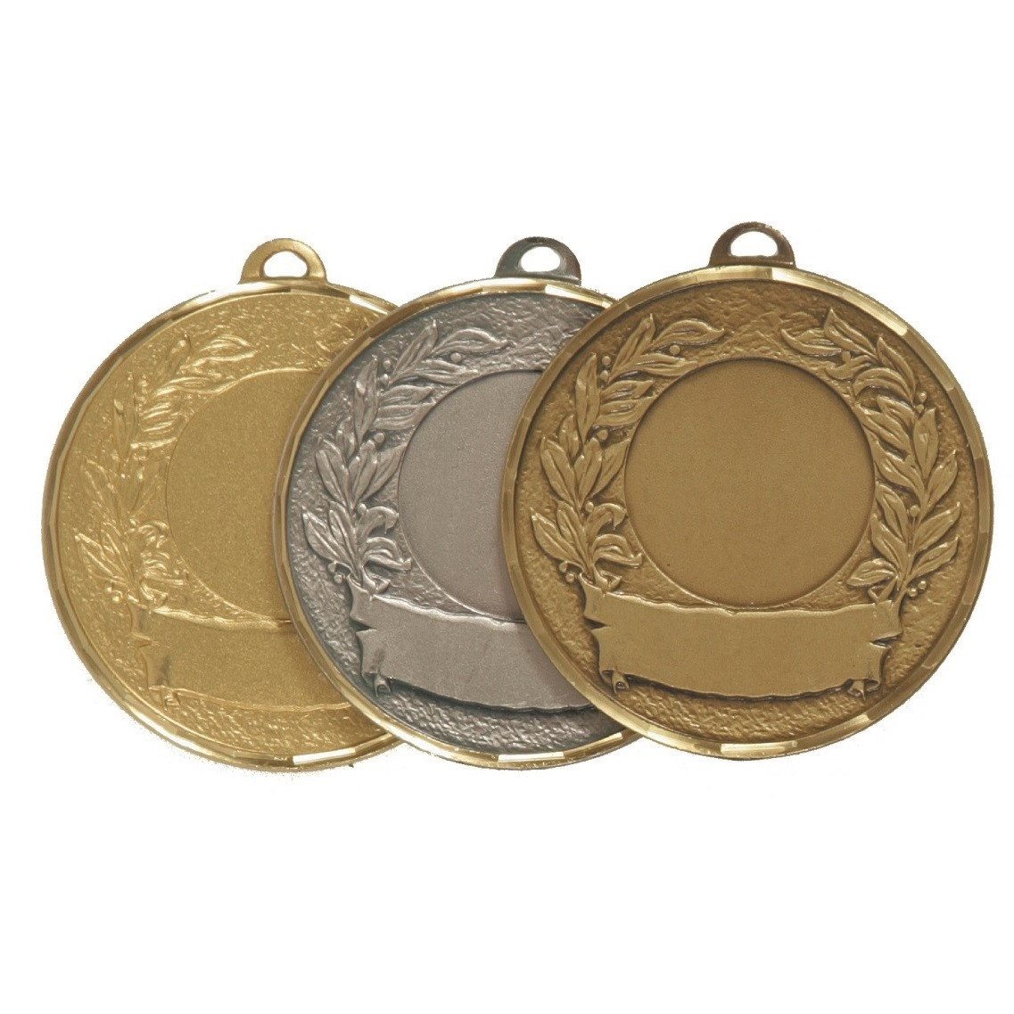 Faceted Laurel & Banner Medal - 5600F