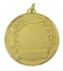 Gold Faceted Laurel & Banner Medal (size: 50mm) - 5600F