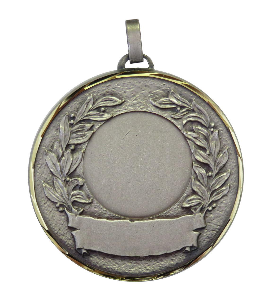 Silver Faceted Laurel & Banner Medal (size: 50mm) - 5600F