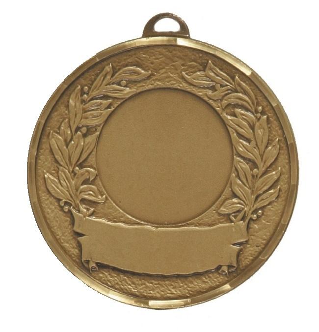 Bronze Faceted Laurel & Banner Medal (size: 50mm) - 5600F