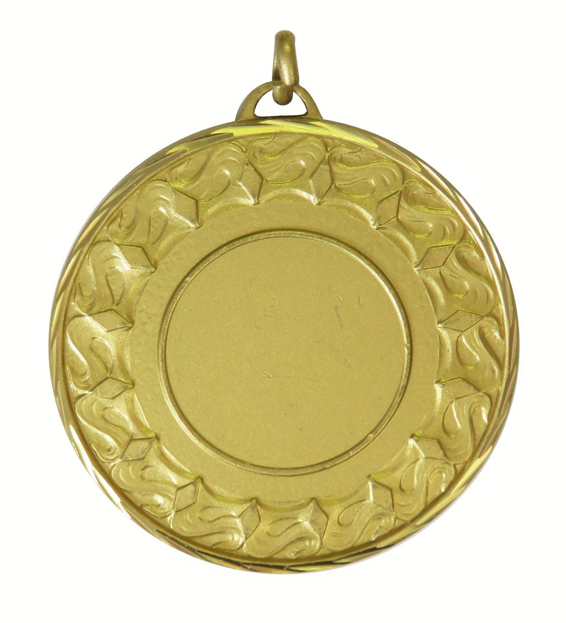 Gold Faceted Waves Medal (size: 50mm) - 5615F