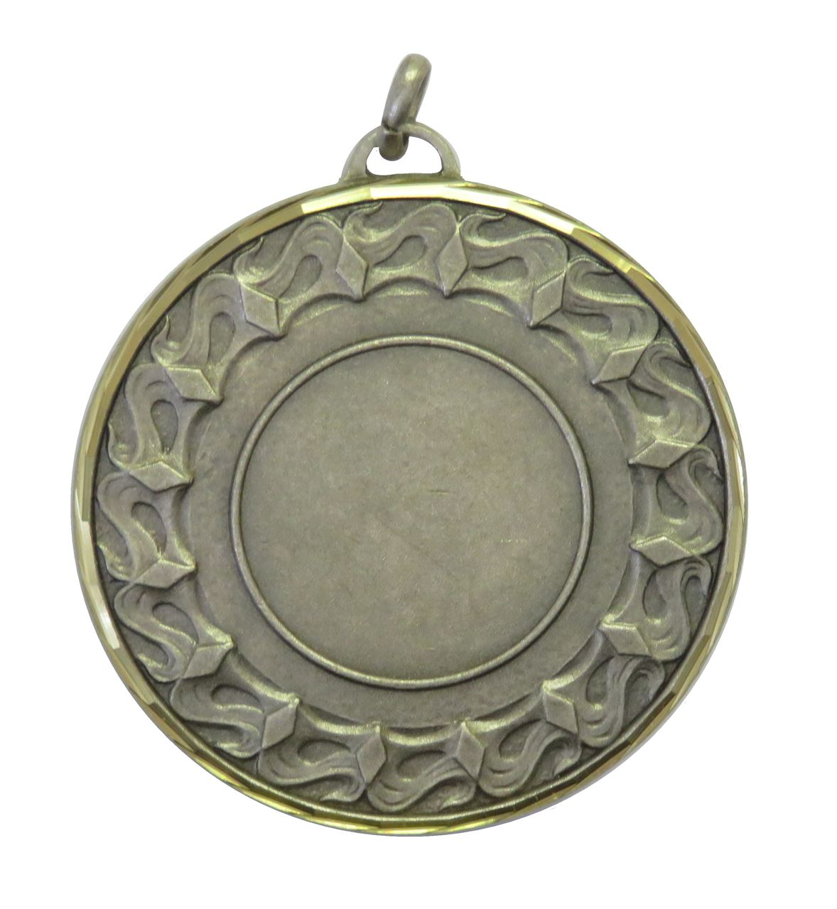 Silver Faceted Waves Medal (size: 50mm) - 5615F