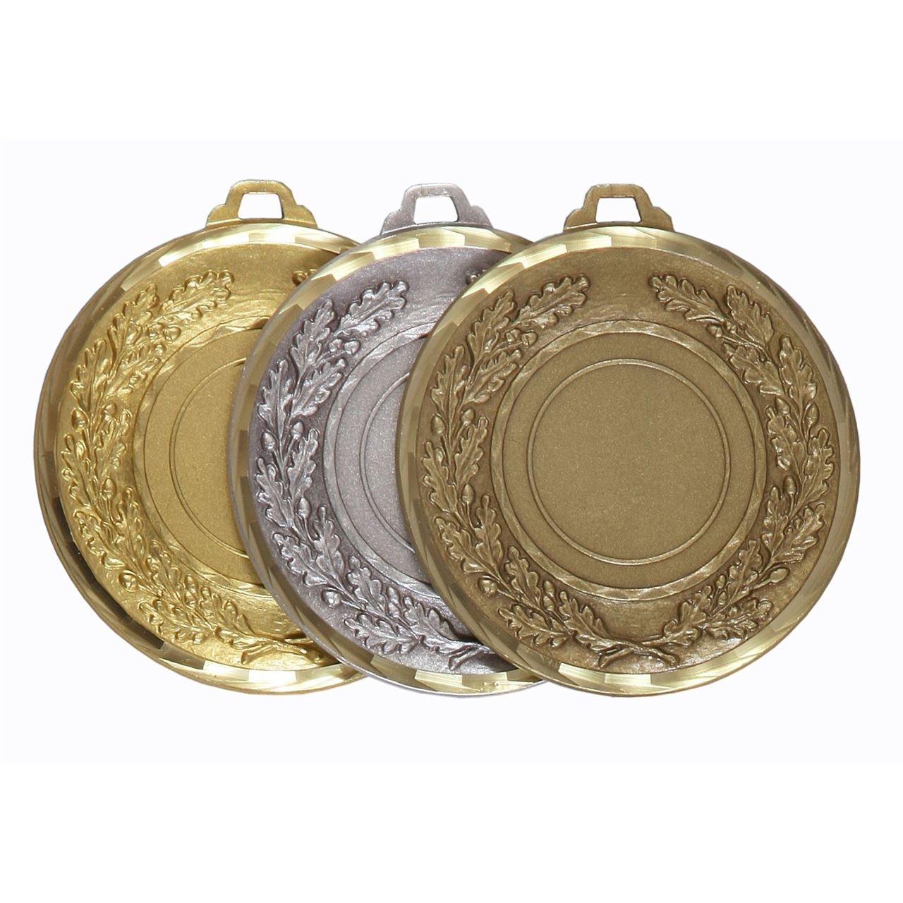 Faceted Classic Wreath Medal - 5595F