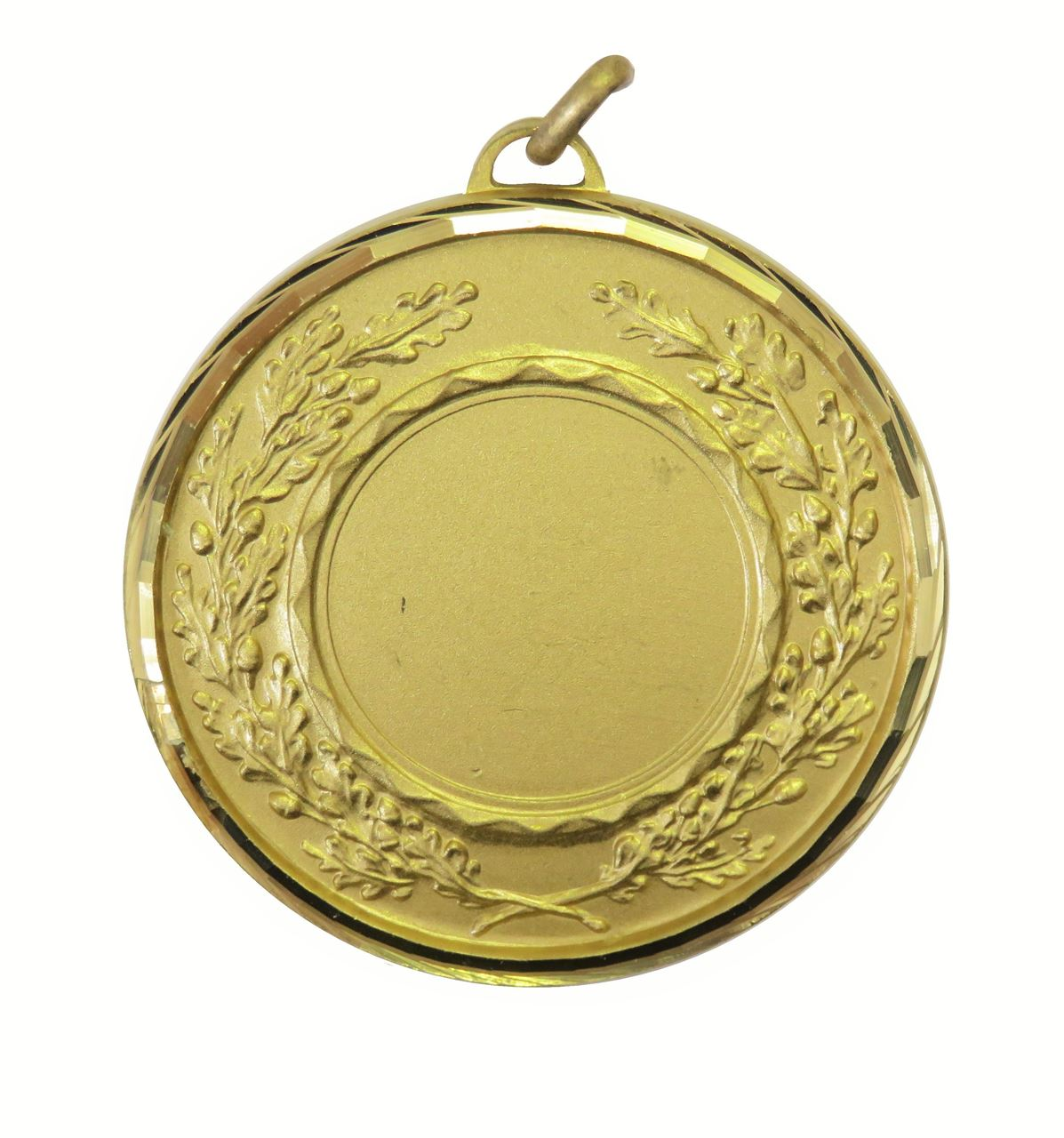Gold Faceted Classic Wreath Medal (size: 50mm and 60mm) - 5595F
