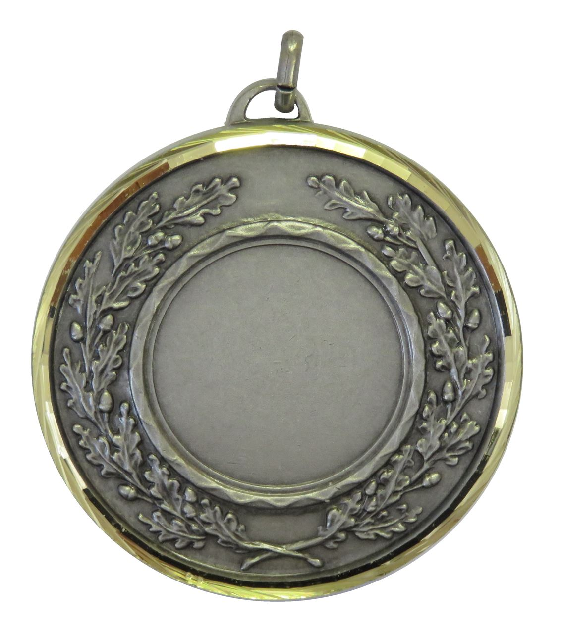 Silver Faceted Classic Wreath Medal (size: 50mm and 60mm) - 5595F