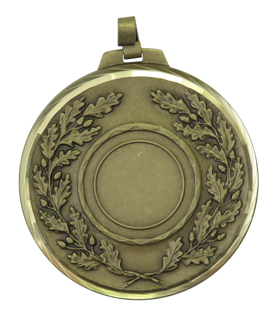Bronze Faceted Classic Wreath Holder Medal (size: 70mm) - 5595F